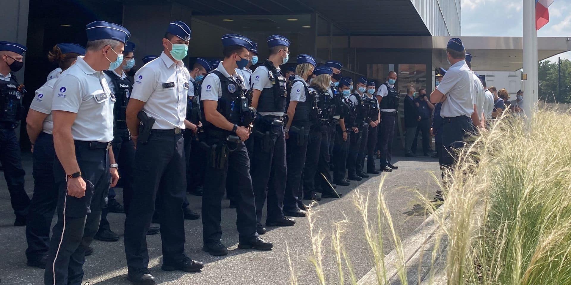 Mons-Borinage : Les sirènes des services de secours retentissent en mémoire aux victimes des intempéries