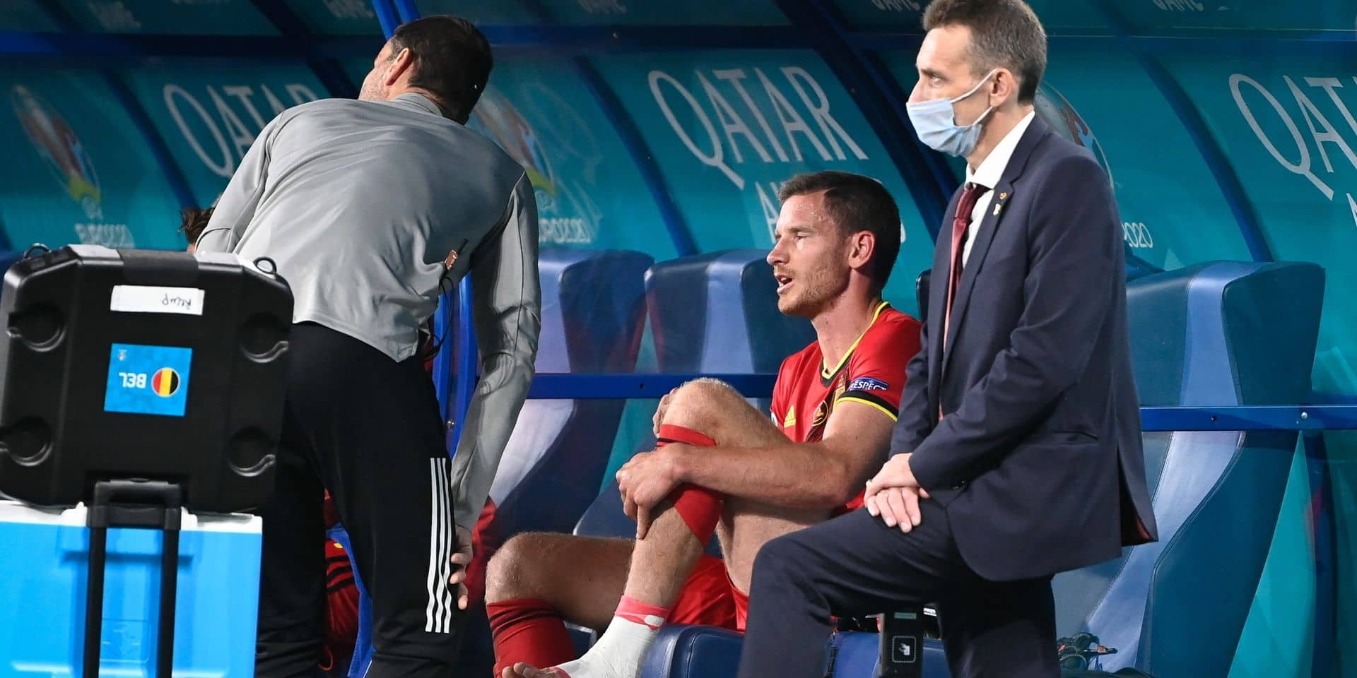 Jan Vertonghen est le seul absent de l'entraînement à deux jours du match contre le Danemark
