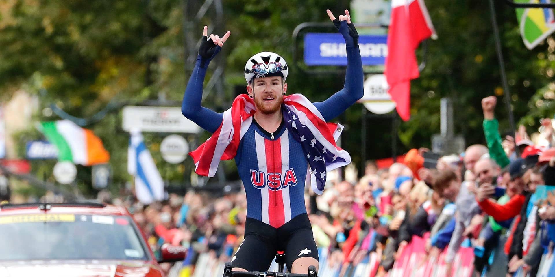 Mondiaux de cyclisme: l'Américain Simmons succède à Remco Evenepoel au palmarès des Mondiaux juniors