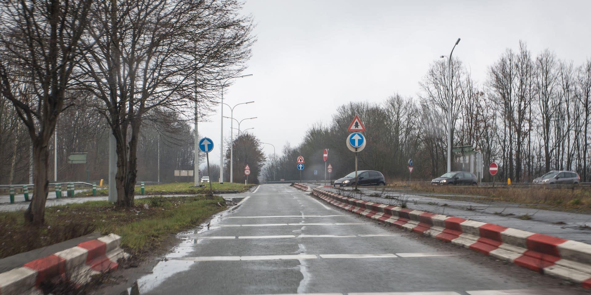 Le rond-point de la sortie Saint-Ghislain reporté... à 2020