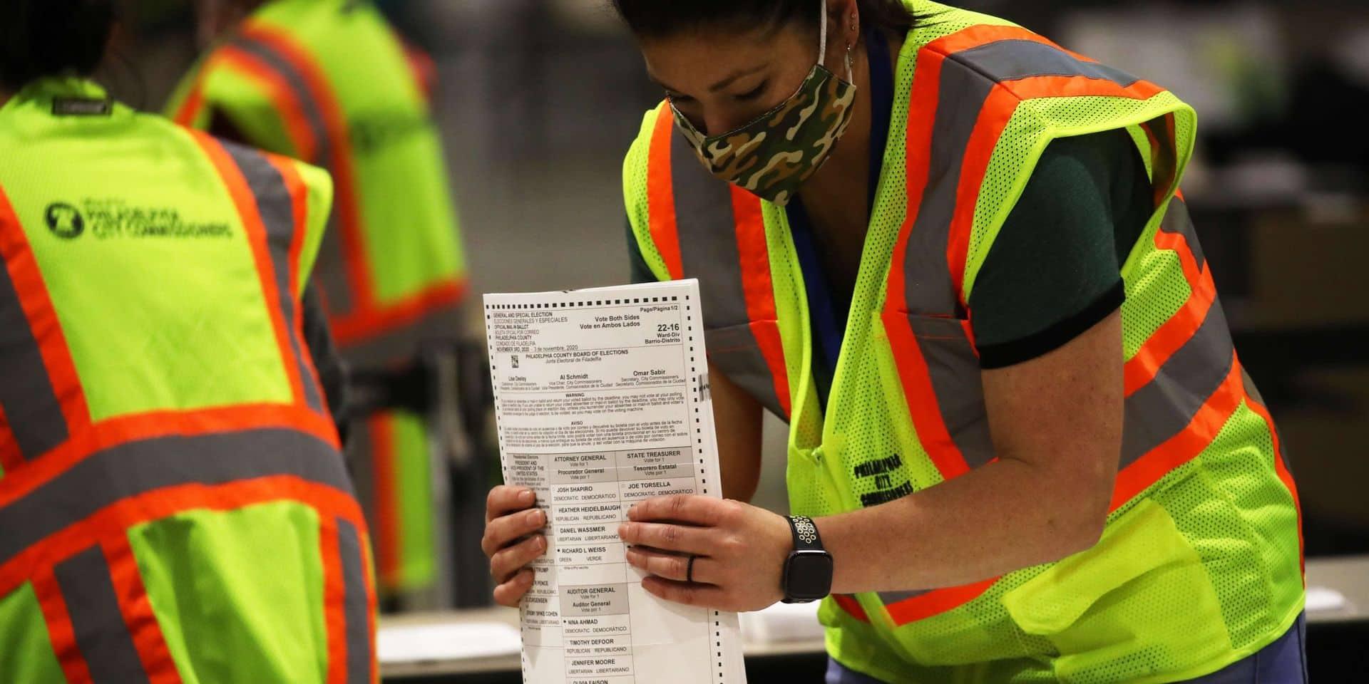 """Dans l'Etat crucial de Pennsylvanie, la poste américaine retrouve """"sur le fil"""" 1.700 bulletins de vote"""