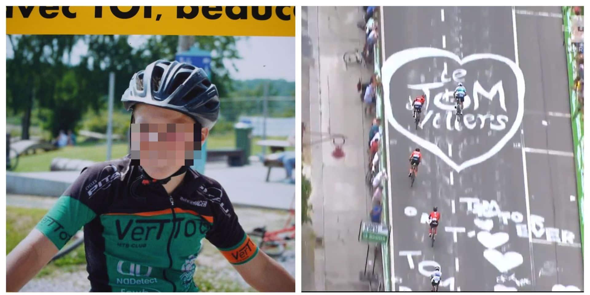 Tom (12 ans) tué par balle à Sart-Dames-Avelines : un hommage en direct lors du Tour de France (VIDEO)