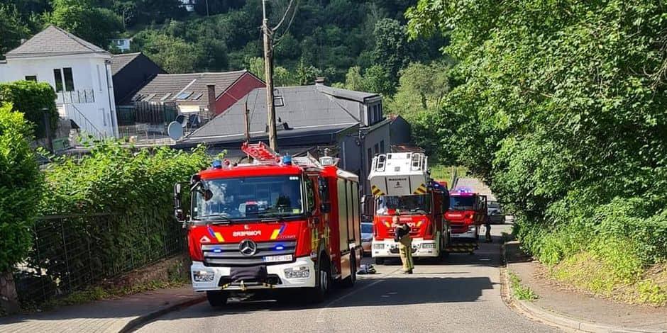 Incendie généralisé d'une habitation à Dison