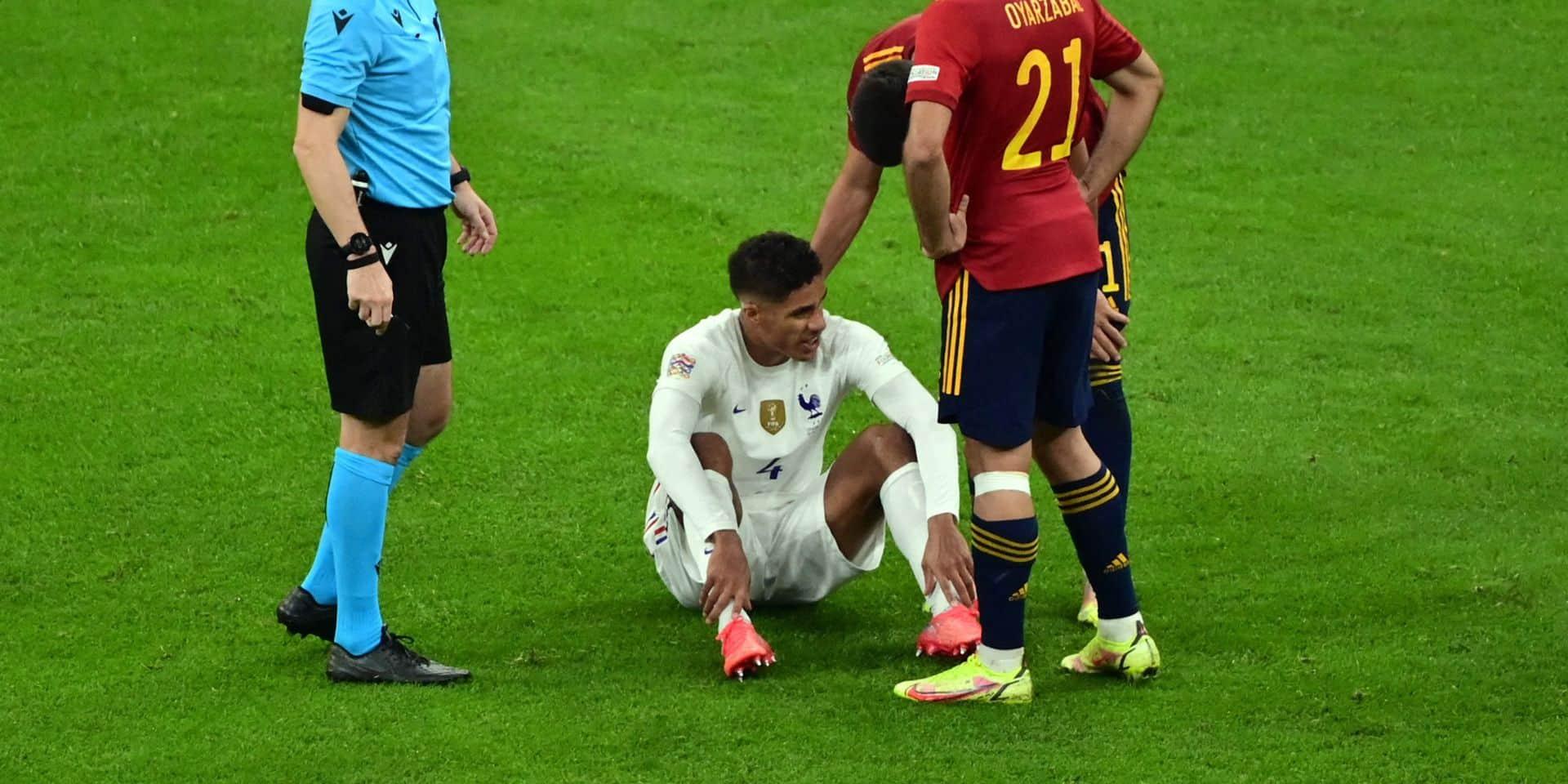 Manchester United devra se passer des services de Raphaël Varane pendant quelques semaines