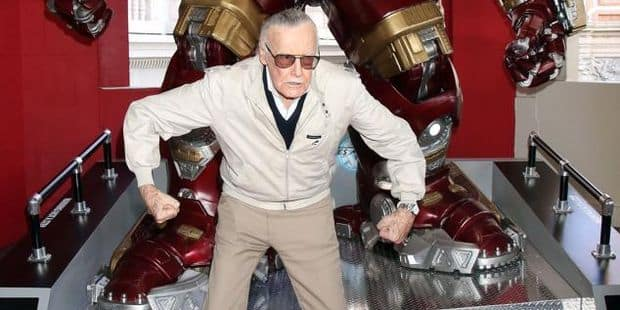 Hulkbuster figure unveiling with Stan Lee