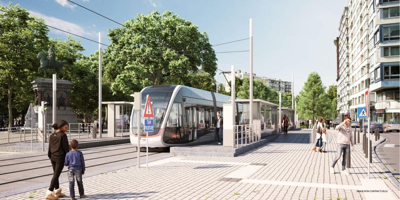 Tram : des travaux sur le boulevard de la Sauvenière
