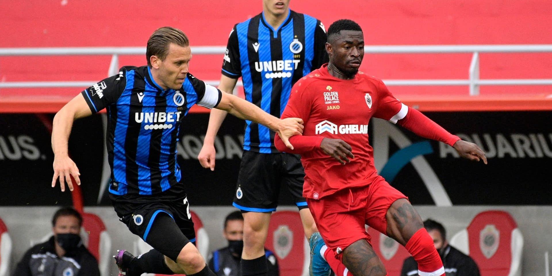 Bruges et l'Antwerp se neutralisent au terme d'un match peu emballant (0-0)
