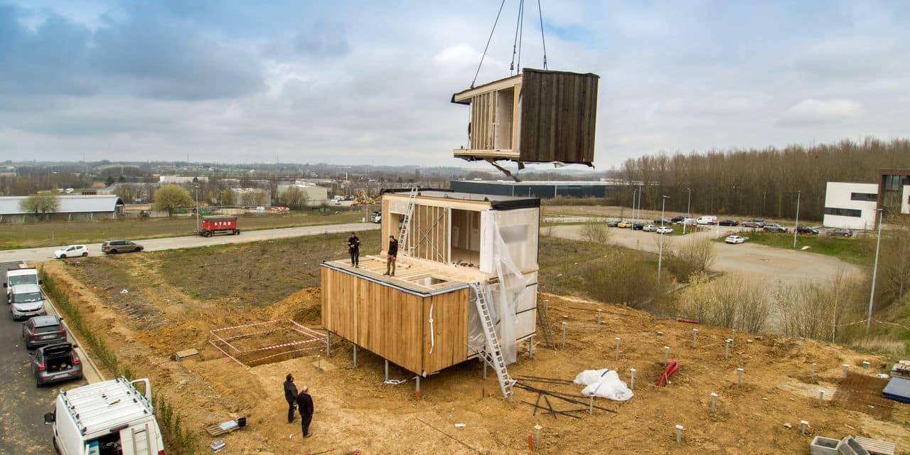 Suarlée : premier bâtiment tertiaire en bois-paille en Wallonie