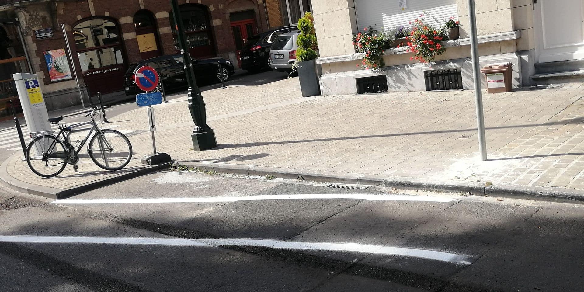 Schaerbeek : Un nouveau marquage au sol sur l'avenue des Azalées