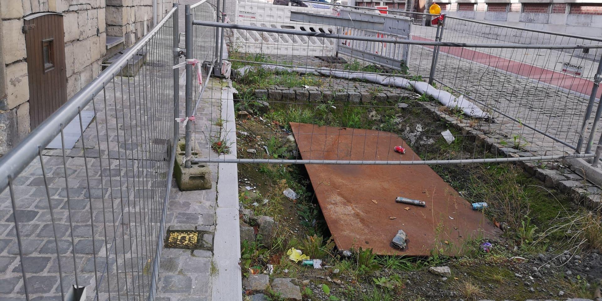 """Une cave sous le """"terrain vague"""" de la rue Perdue à Tournai"""