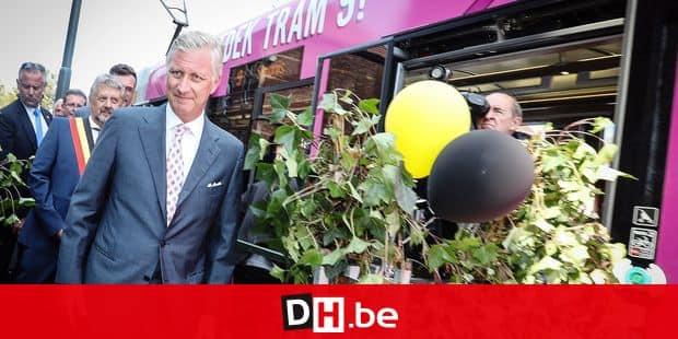 Photos Bernard Demoulin :Inauguration de la place du miroir et du Tram 9 en presence du roi Philippe