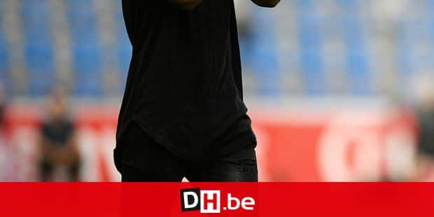 Former Genk player Christian Kabasele pictured before the start of the Jupiler Pro League match between KRC Genk and Zulte Waregem, in Genk, Sunday 27 May 2018, match for European barrage in the Belgian soccer championship. BELGA PHOTO YORICK JANSENS