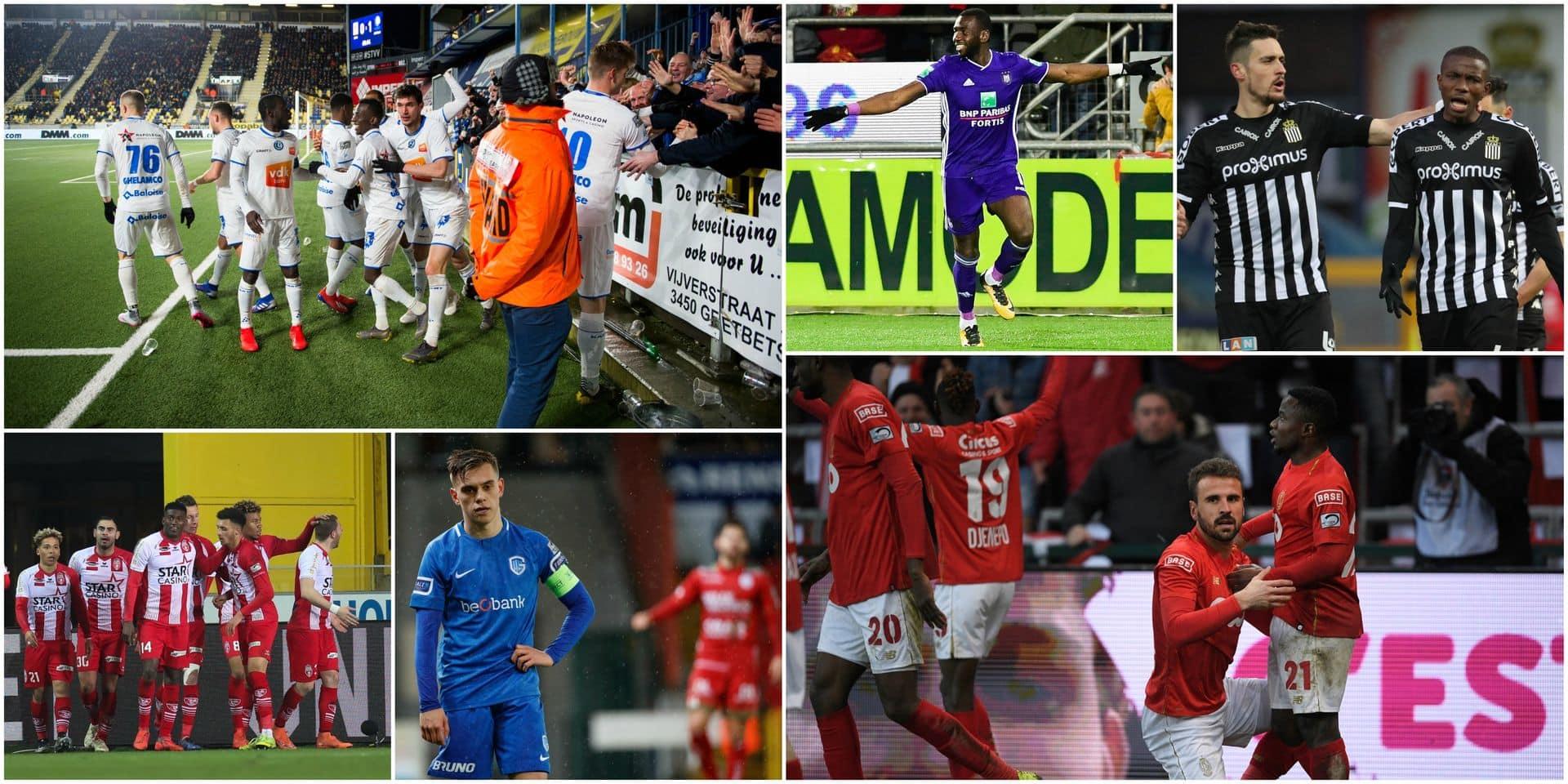 Le Standard s'offre une remontada, Anderlecht s'impose, Charleroi et Bruges battus, La Gantoise en PO1!