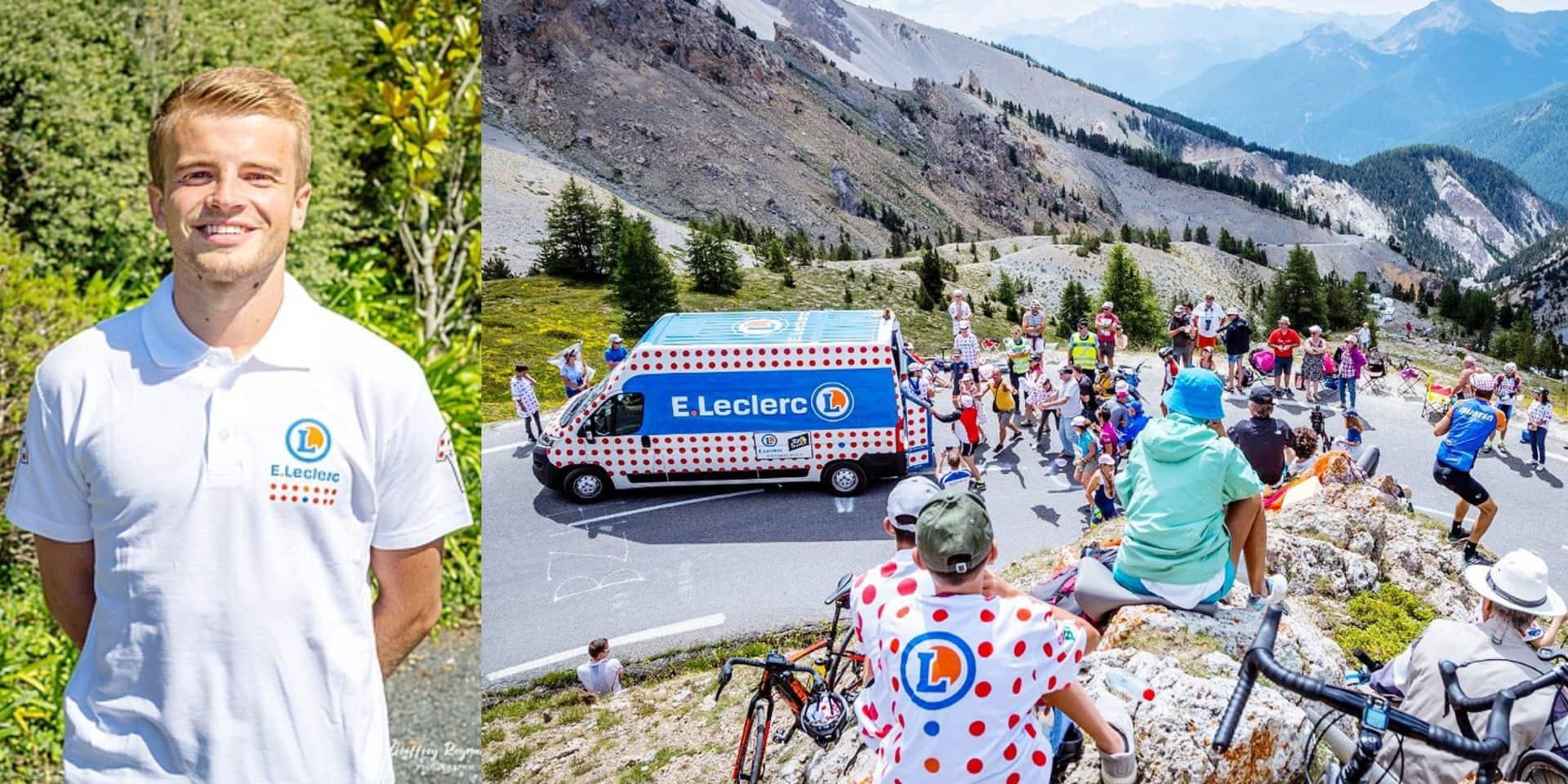 """Un jeune Belge dans la caravane publicitaire du Tour: """"Distributeur de sourires, un job de rêve !"""""""